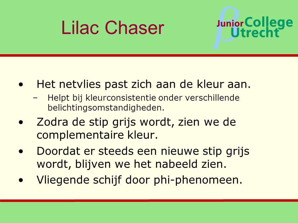Lilac Chaser Het netvlies past zich aan de kleur aan.