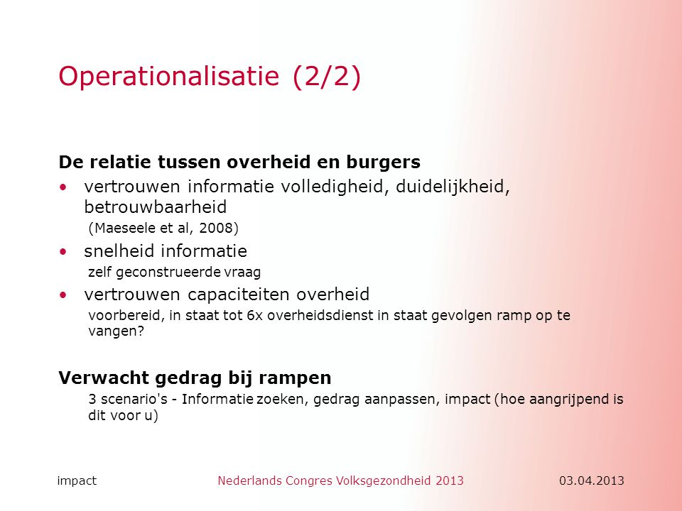 Operationalisatie (2/2)