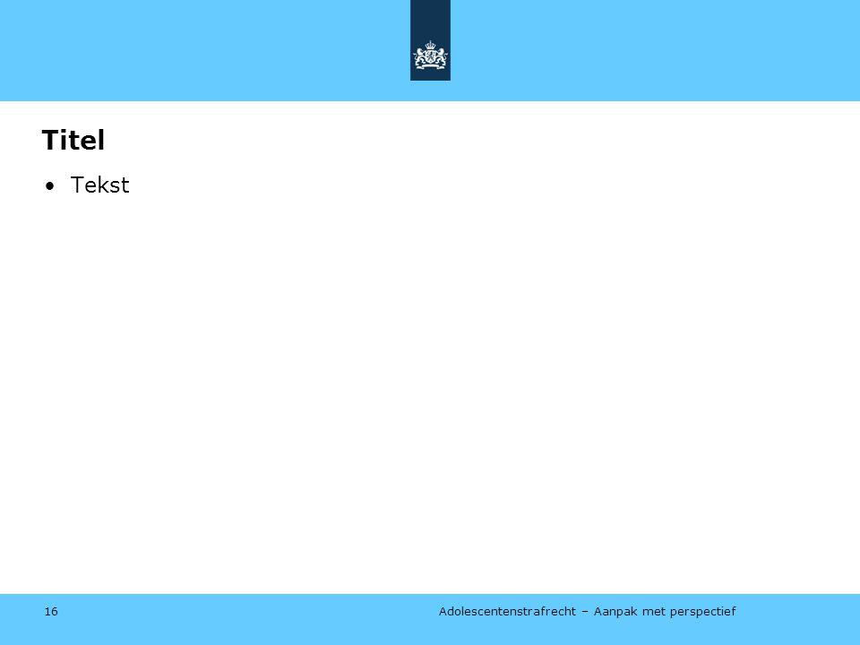 Titel Tekst januari 2014 ISD = Instelling voor stelselmatige daders