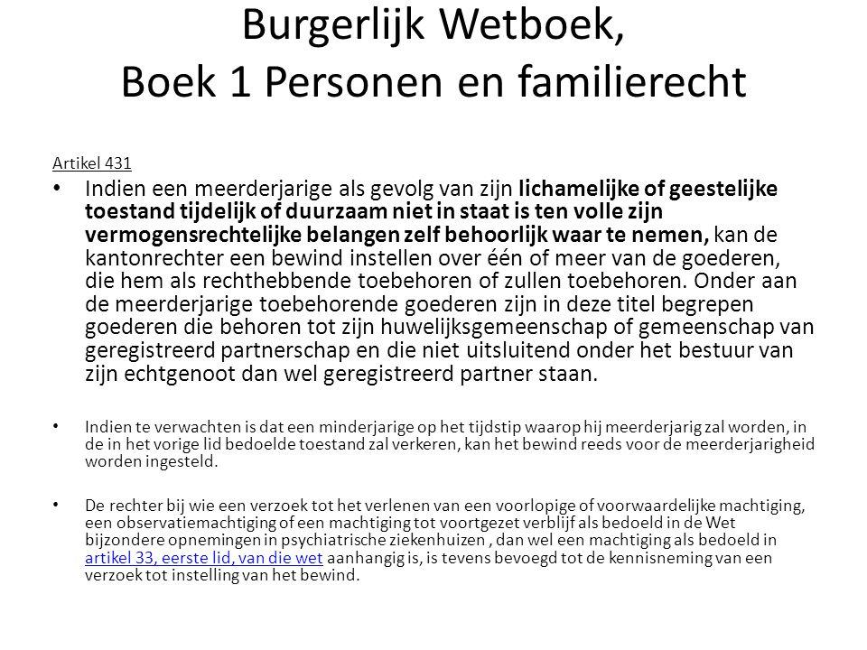 Burgerlijk Wetboek, Boek 1 Personen en familierecht