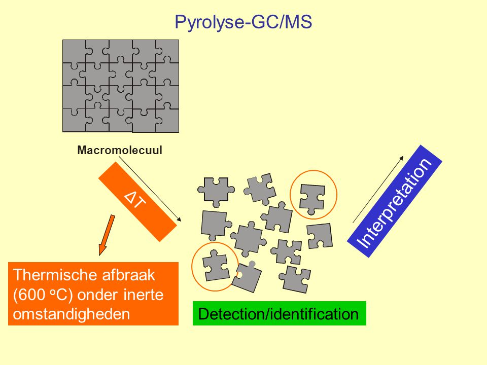 Pyrolyse-GC/MS Interpretation ΔT