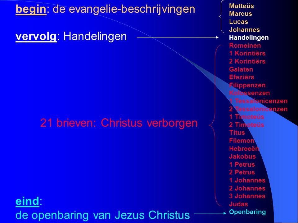 begin: de evangelie-beschrijvingen
