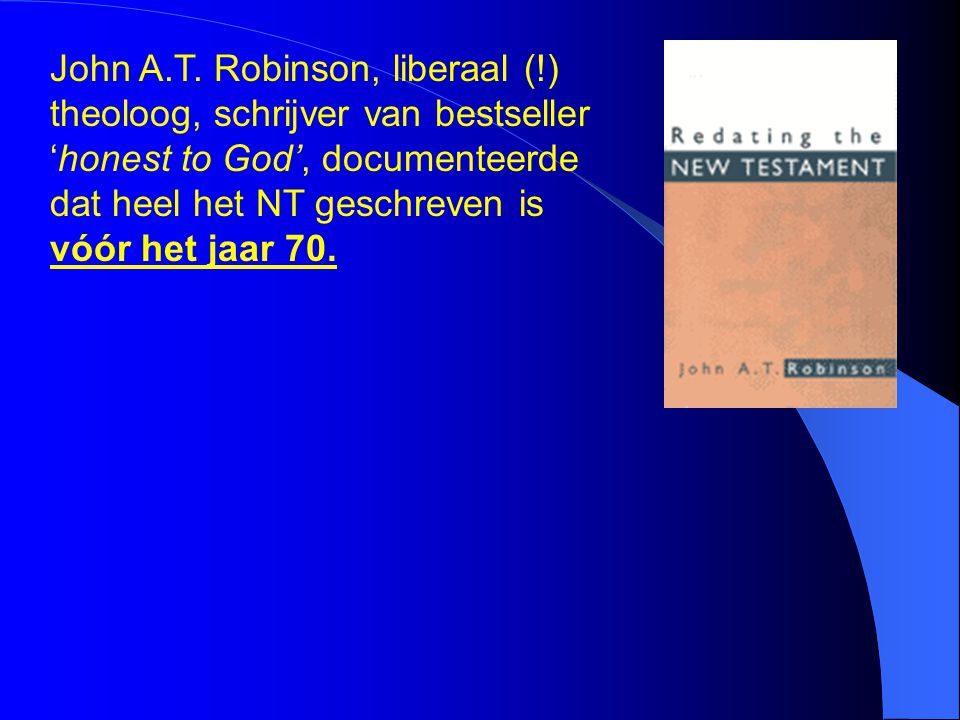 John A. T. Robinson, liberaal (
