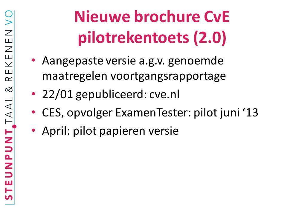 Nieuwe brochure CvE pilotrekentoets (2.0)