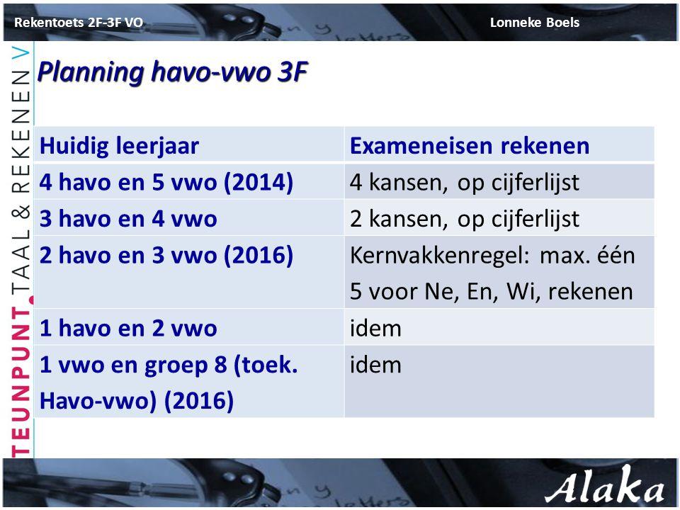 Rekentoets 2F-3F VO Lonneke Boels