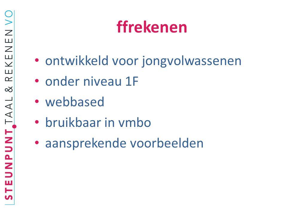 ffrekenen ontwikkeld voor jongvolwassenen onder niveau 1F webbased