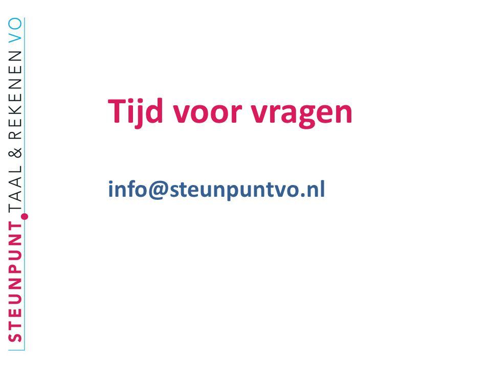 Tijd voor vragen info@steunpuntvo.nl