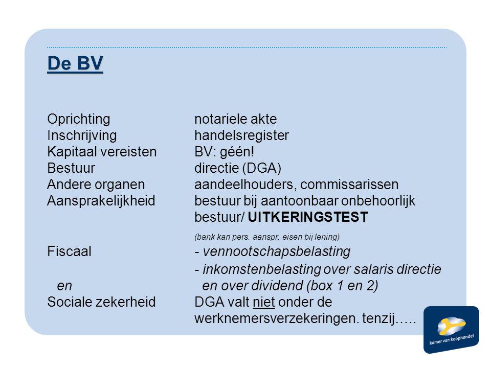 De BV Oprichting notariele akte Inschrijving handelsregister