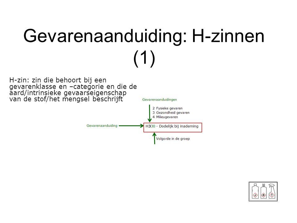 Gevarenaanduiding: H-zinnen (1)