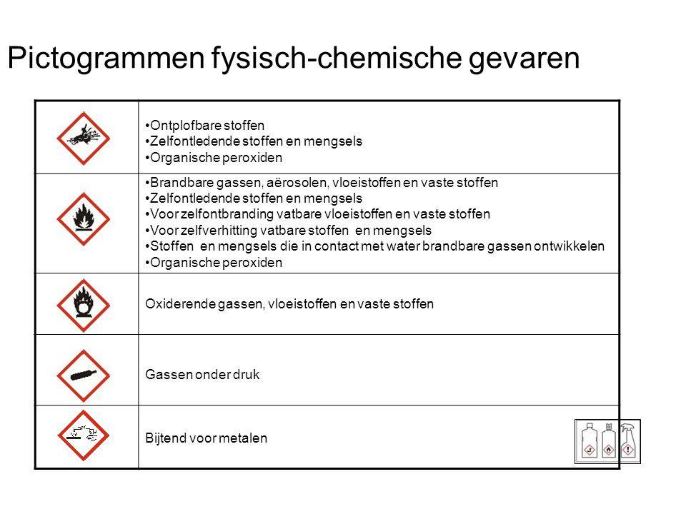 Pictogrammen fysisch-chemische gevaren