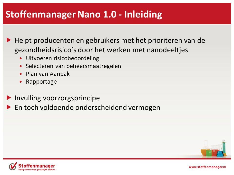 Stoffenmanager Nano 1.0 - Inleiding