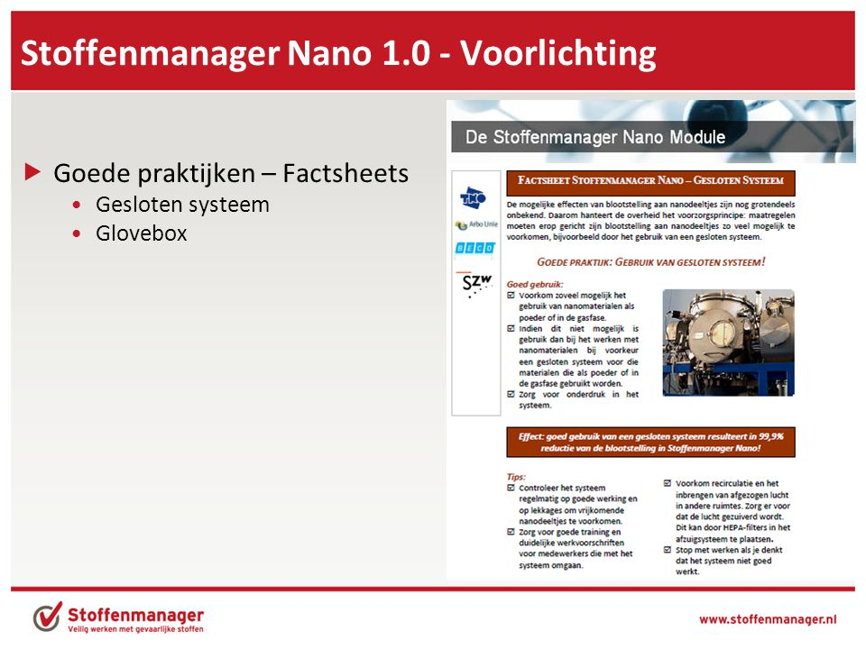 Stoffenmanager Nano 1.0 - Voorlichting