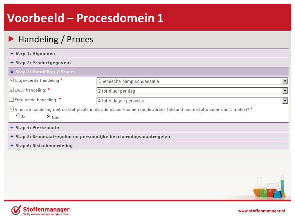 Voorbeeld – Procesdomein 1