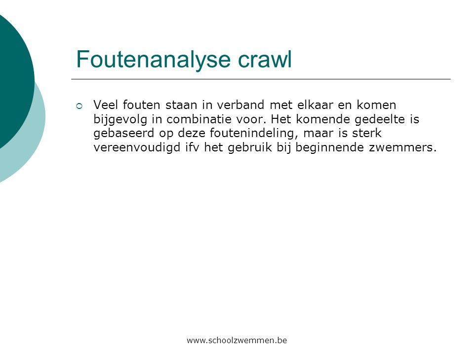 Foutenanalyse crawl