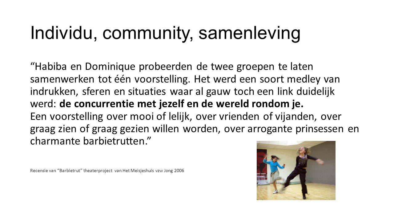 Individu, community, samenleving