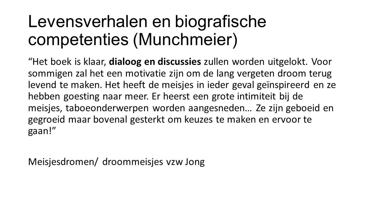Levensverhalen en biografische competenties (Munchmeier)