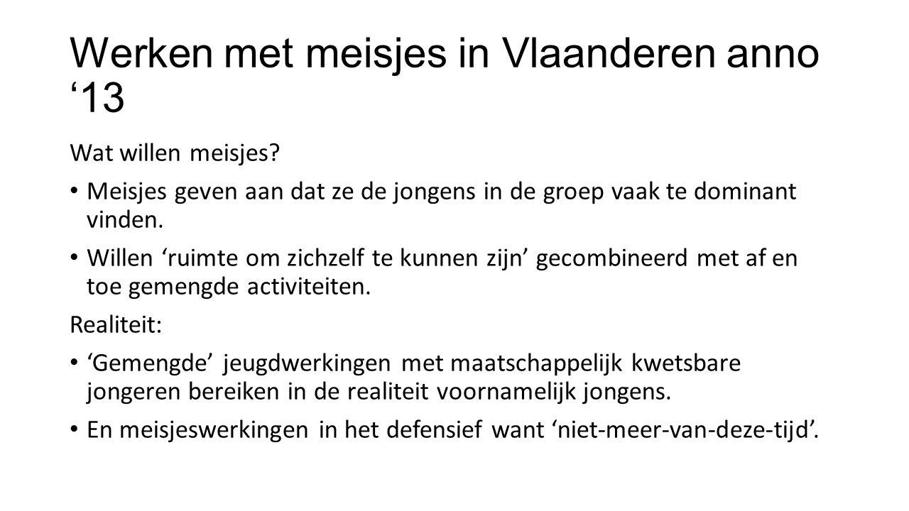 Werken met meisjes in Vlaanderen anno '13