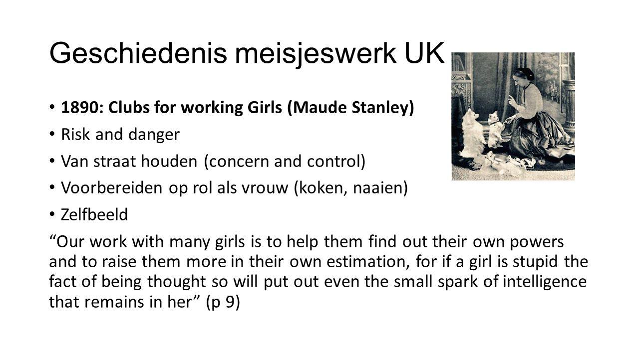 Geschiedenis meisjeswerk UK