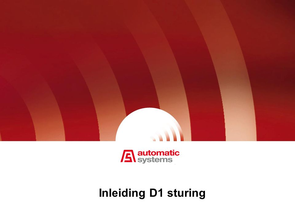 Inleiding D1 sturing