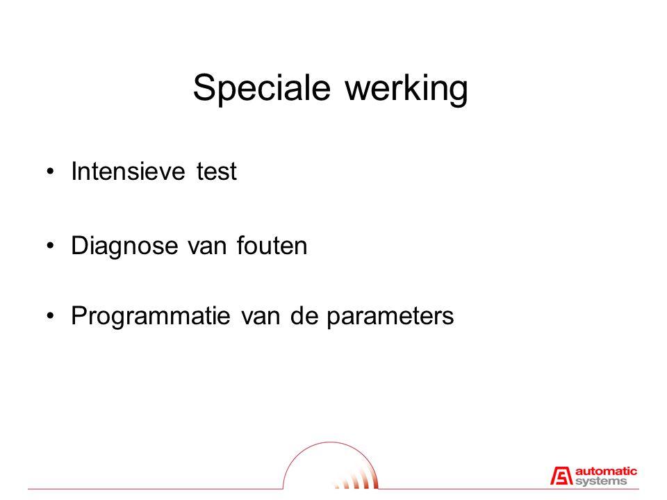 Speciale werking Intensieve test Diagnose van fouten