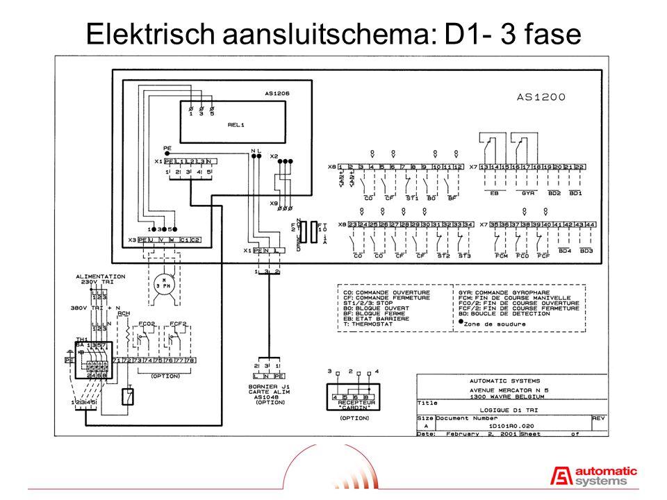 Elektrisch aansluitschema: D1- 3 fase