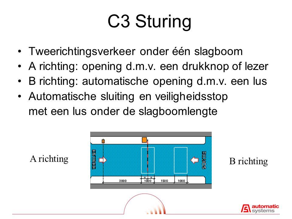 C3 Sturing Tweerichtingsverkeer onder één slagboom