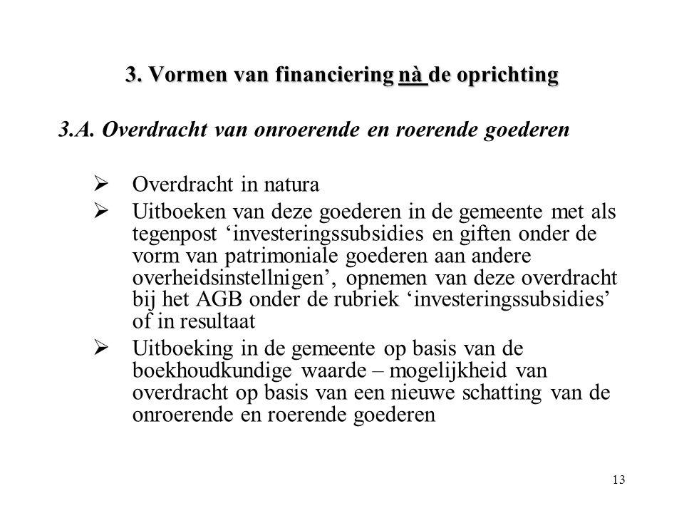 3. Vormen van financiering nà de oprichting