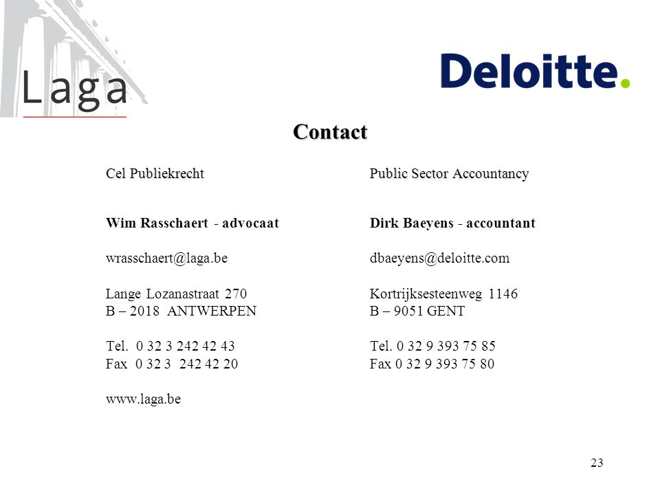 Contact Cel Publiekrecht Public Sector Accountancy