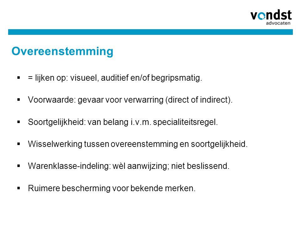 Overeenstemming = lijken op: visueel, auditief en/of begripsmatig.
