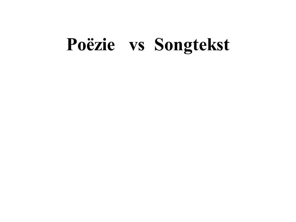 Poëzie vs Songtekst