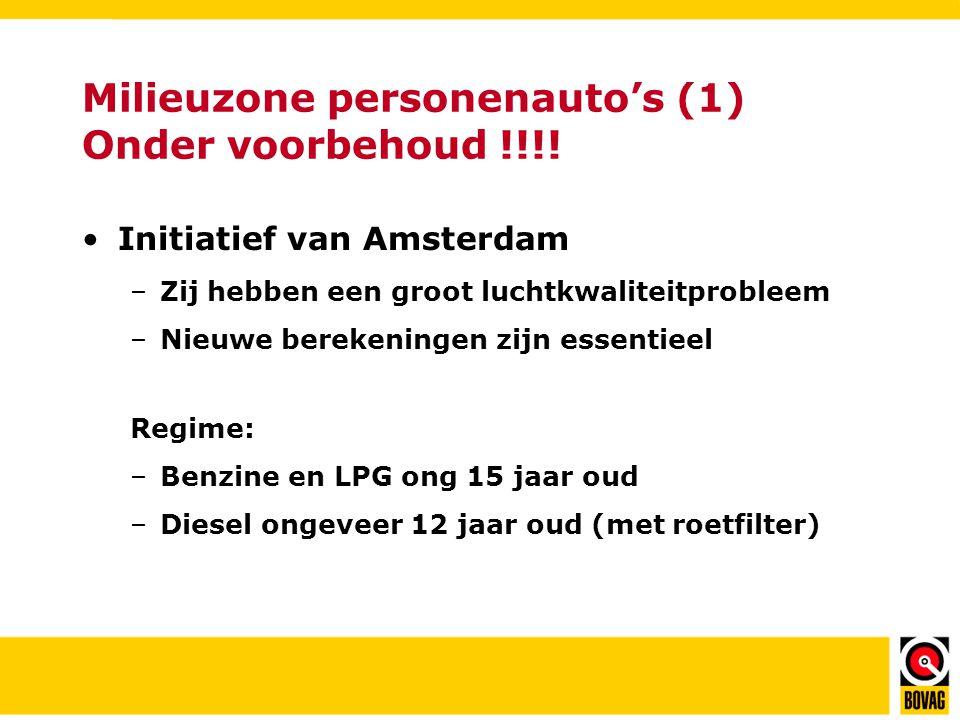 Milieuzone personenauto's (1) Onder voorbehoud !!!!