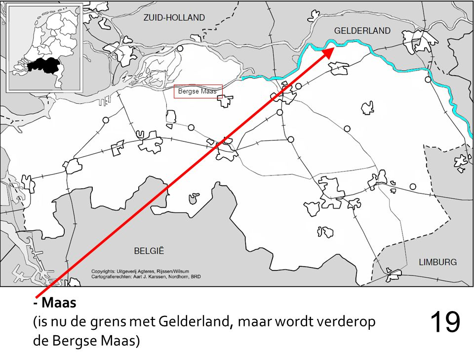 19 - Maas (is nu de grens met Gelderland, maar wordt verderop
