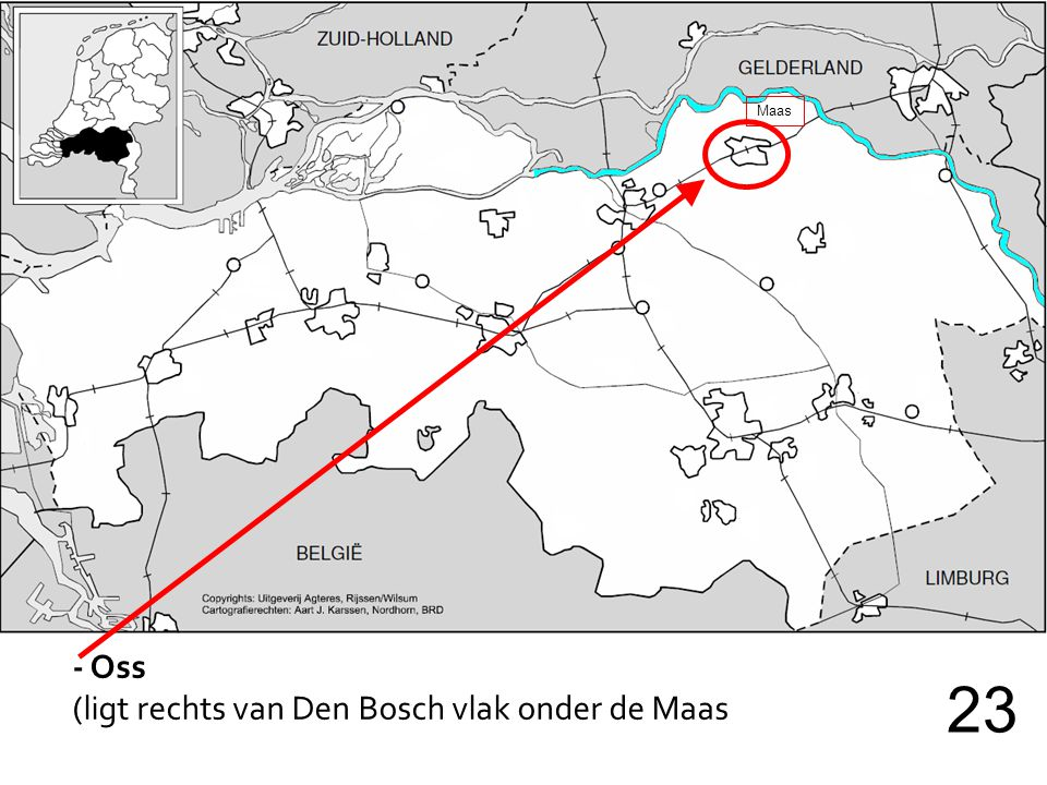 Maas - Oss (ligt rechts van Den Bosch vlak onder de Maas 23