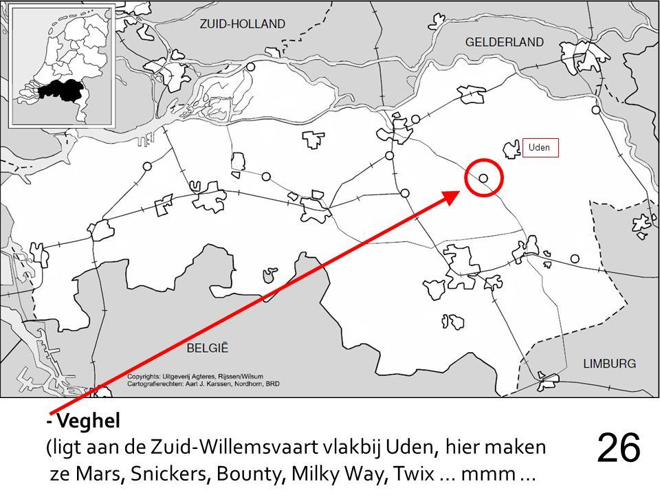 26 - Veghel (ligt aan de Zuid-Willemsvaart vlakbij Uden, hier maken