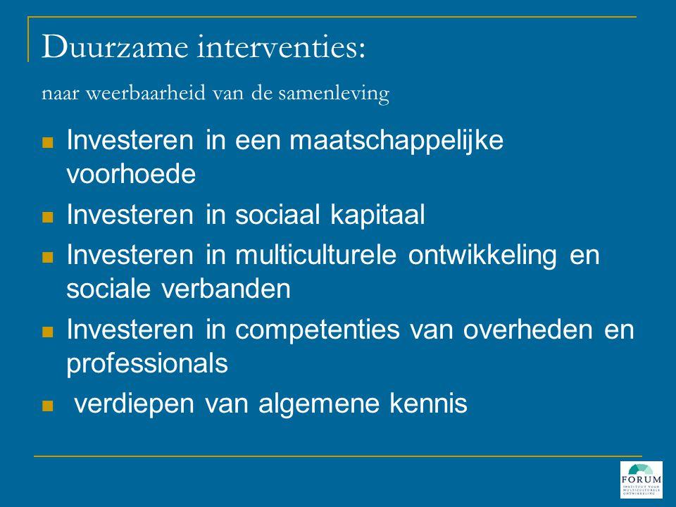 Duurzame interventies: naar weerbaarheid van de samenleving