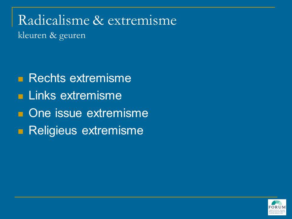 Radicalisme & extremisme kleuren & geuren