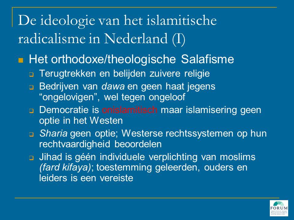 De ideologie van het islamitische radicalisme in Nederland (I)