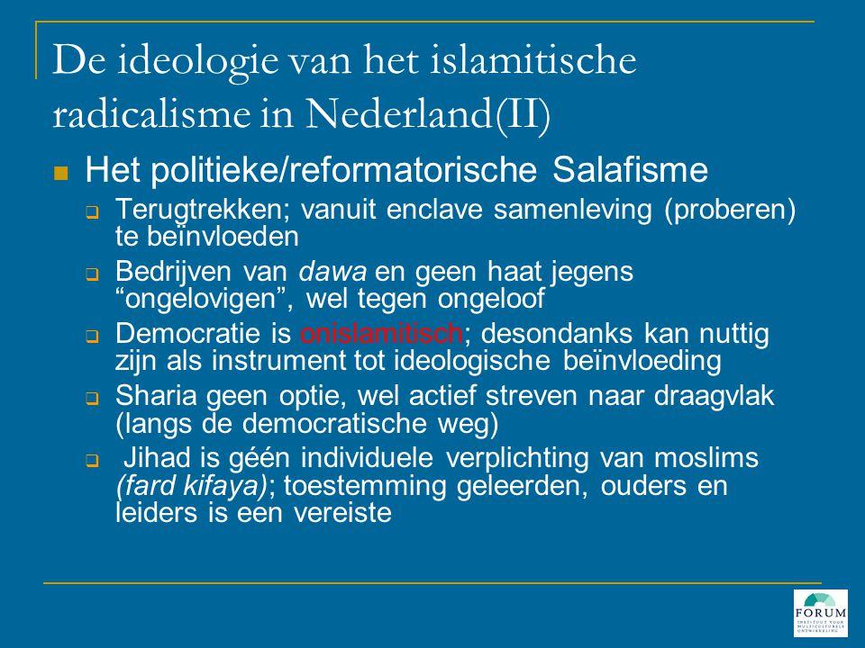De ideologie van het islamitische radicalisme in Nederland(II)