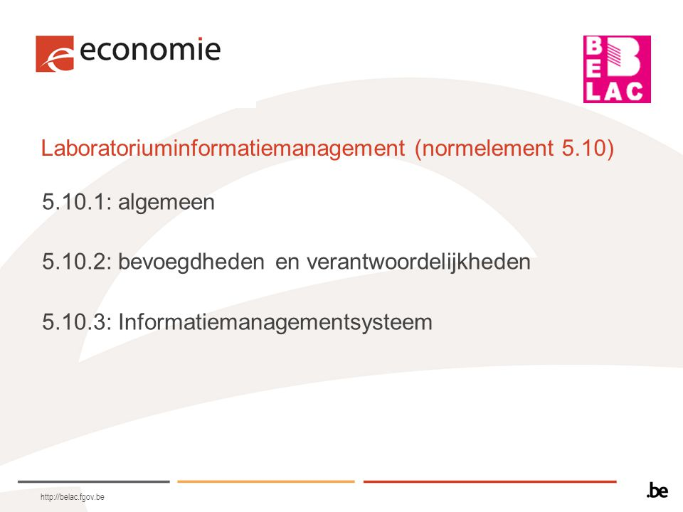 Laboratoriuminformatiemanagement (normelement 5.10)