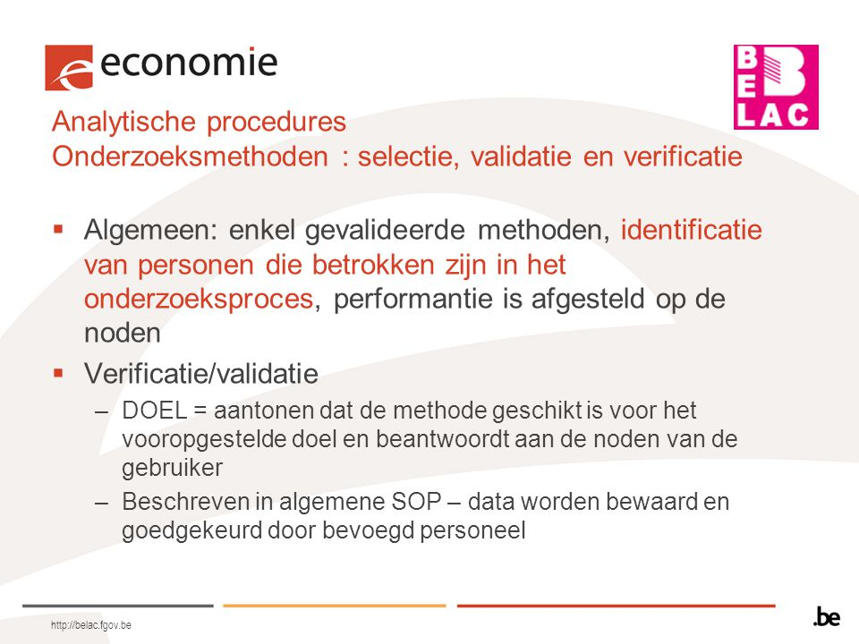 Verificatie/validatie