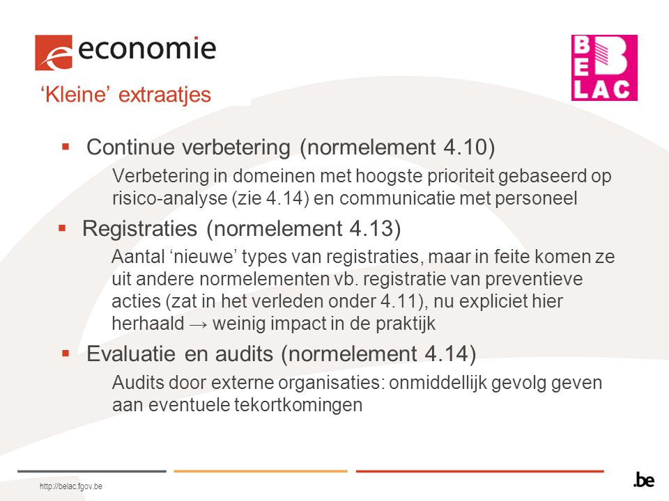 Continue verbetering (normelement 4.10)