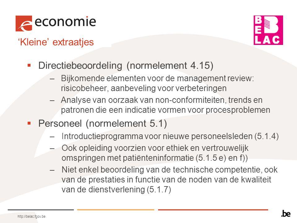 Directiebeoordeling (normelement 4.15)