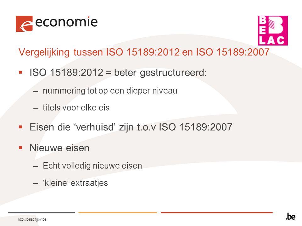Vergelijking tussen ISO 15189:2012 en ISO 15189:2007