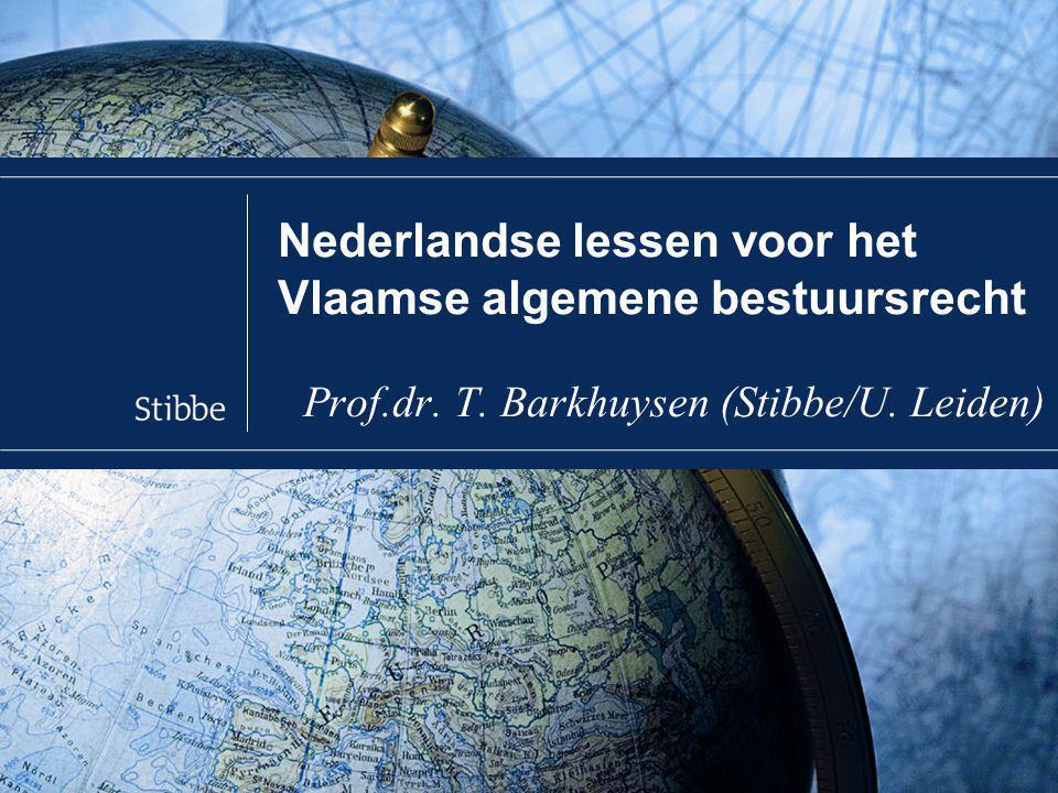 Inleiding Nederland kan veel leren van Vlaanderen, kan Vlaanderen nu leren van Nederland