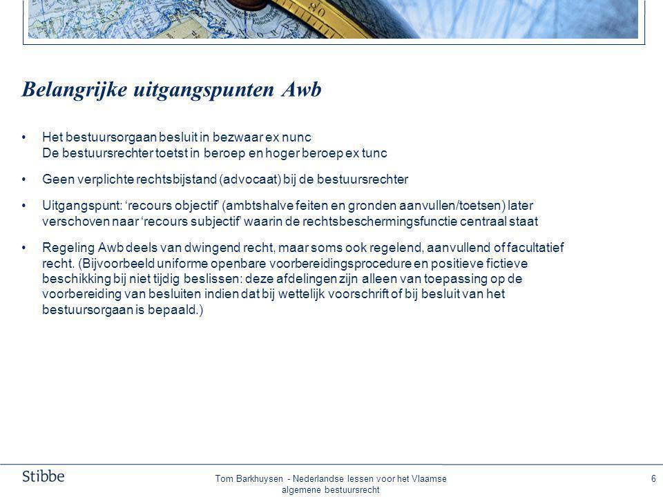 Knelpunten Awb Besluitmodel als enige ingang voor rechtsbescherming bij de bestuursrechter.