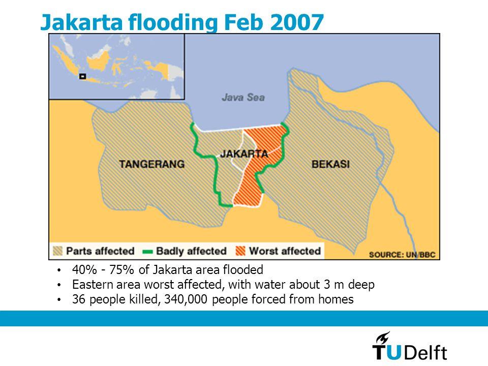 Jakarta flooding Feb 2007 40% - 75% of Jakarta area flooded