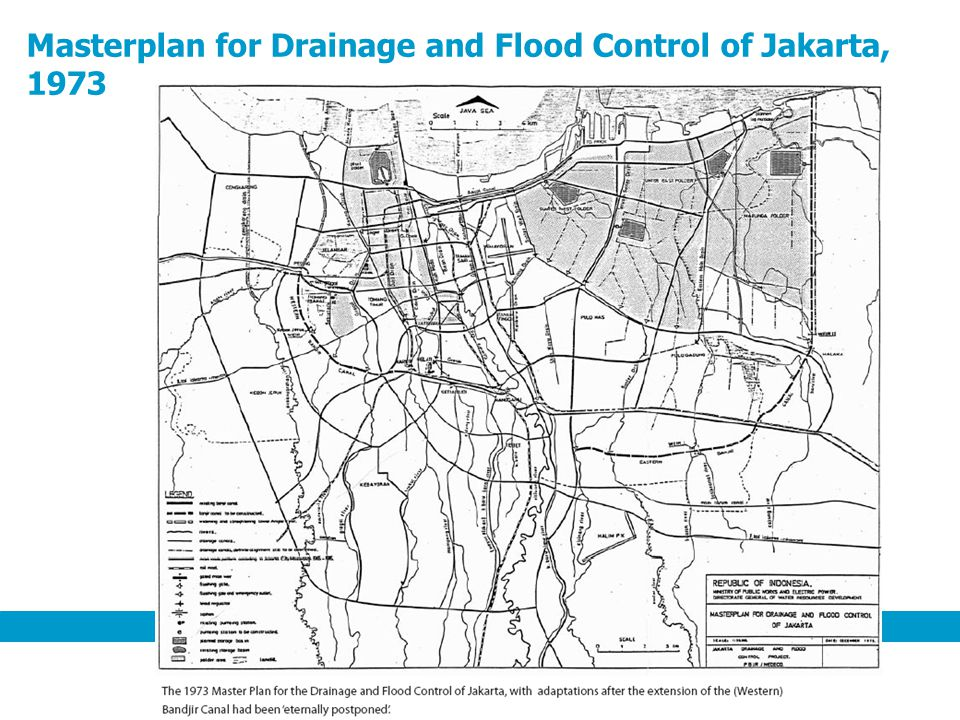 Masterplan for Drainage and Flood Control of Jakarta, 1973