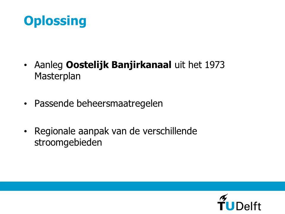 Oplossing Aanleg Oostelijk Banjirkanaal uit het 1973 Masterplan