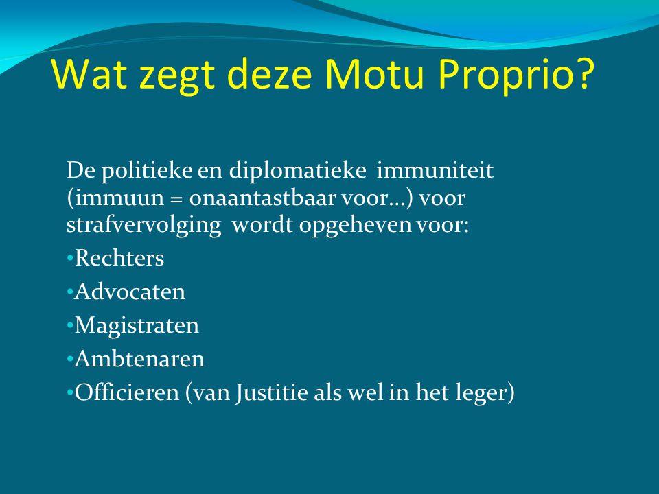 Wat zegt deze Motu Proprio