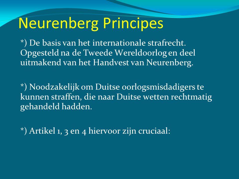 Neurenberg Principes